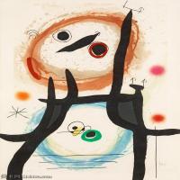 【欣赏级】YHR181417057-二十世纪绘画大师西班牙超现实主义画家米罗Joan Miro绘画作品高清图片抽象画作品集-La Femme Angora-17M-2005X3000