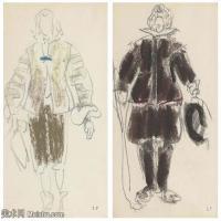 【打印级】SMR181514030-维亚尔爱德华Edouard Vuillard法国纳比派代表画家高清那比派绘画作品素描手稿底稿图片资料-36M-3851X3281