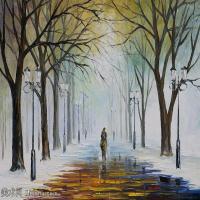 【印刷级】YHR190949196-李奥尼德阿夫列莫夫Leonid Afremov白俄罗斯现代印象派艺术家绘画作品集油画作品高清图片-43M-4457X3445