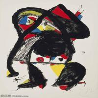 【打印级】YHR181417146-二十世纪绘画大师西班牙超现实主义画家米罗Joan Miro绘画作品高清图片抽象画作品集-EL GOLAFRE-21M-2333X3207