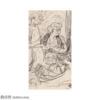 【欣赏级】SMR181514005-维亚尔爱德华Edouard Vuillard法国纳比派代表画家高清那比派绘画作品素描手稿底稿图片资料-11M-2000X2000