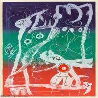 【欣赏级】YHR181417064-二十世纪绘画大师西班牙超现实主义画家米罗Joan Miro绘画作品高清图片抽象画作品集-Le délire du couturier  bleu, rouge, v