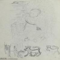 【打印级】SMR181514015-维亚尔爱德华Edouard Vuillard法国纳比派代表画家高清那比派绘画作品素描手稿底稿图片资料-21M-2332X3204