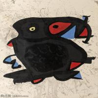 【欣赏级】YHR181417055-二十世纪绘画大师西班牙超现实主义画家米罗Joan Miro绘画作品高清图片抽象画作品集-Affiche pour l'exposition Joan Miro-1