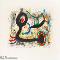 【欣赏级】YHR181417074-二十世纪绘画大师西班牙超现实主义画家米罗Joan Miro绘画作品高清图片抽象画作品集-Sous la grêle-18M-3000X2123