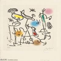【打印级】YHR181417145-二十世纪绘画大师西班牙超现实主义画家米罗Joan Miro绘画作品高清图片抽象画作品集-PAROLES PEINTES III-21M-2337X3200