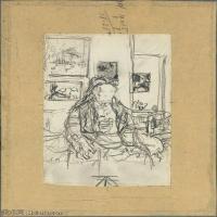 【打印级】SMR181514024-维亚尔爱德华Edouard Vuillard法国纳比派代表画家高清那比派绘画作品素描手稿底稿图片资料-28M-2704X3722