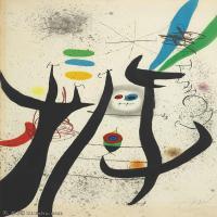 【欣赏级】YHR181417078-二十世纪绘画大师西班牙超现实主义画家米罗Joan Miro绘画作品高清图片抽象画作品集-LA FEMME ARBORESCENTE-18M-2046X3208