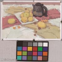 【超頂級】SF-10120579-水粉靜物美院優秀試卷優秀考生繪畫作品藝考高分題庫高清圖片-200M-6884X7632