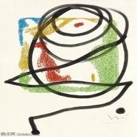 【打印级】YHR181417136-二十世纪绘画大师西班牙超现实主义画家米罗Joan Miro绘画作品高清图片抽象画作品集-LES ESSENCIèS DE LA TERRA-21M-2302X320