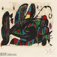 【欣赏级】YHR181417077-二十世纪绘画大师西班牙超现实主义画家米罗Joan Miro绘画作品高清图片抽象画作品集-Utan titel (Joan Miró). (d)-18M-3316X1