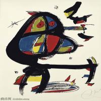 【打印级】YHR181417147-二十世纪绘画大师西班牙超现实主义画家米罗Joan Miro绘画作品高清图片抽象画作品集-CAP I CUA-21M-2333X3207