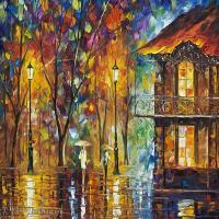 【印刷级】YHR190949193-李奥尼德阿夫列莫夫Leonid Afremov白俄罗斯现代印象派艺术家绘画作品集油画作品高清图片-43M-4476X3380