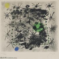 【欣赏级】YHR181417059-二十世纪绘画大师西班牙超现实主义画家米罗Joan Miro绘画作品高清图片抽象画作品集-Constellations.-17M-2087X2898