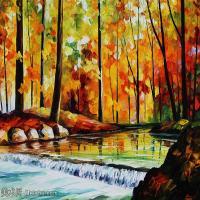 【印刷级】YHR190949191-李奥尼德阿夫列莫夫Leonid Afremov白俄罗斯现代印象派艺术家绘画作品集油画作品高清图片-43M-4431X3402