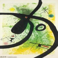 【欣赏级】YHR181417075-二十世纪绘画大师西班牙超现实主义画家米罗Joan Miro绘画作品高清图片抽象画作品集-JOAN MIRO (18931983)LE CHASSEUR DE PIE