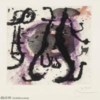 【打印级】YHR181417140-二十世纪绘画大师西班牙超现实主义画家米罗Joan Miro绘画作品高清图片抽象画作品集-SUMO -21M-2316X3206