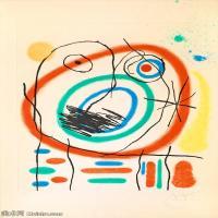 【欣赏级】YHR181417070-二十世纪绘画大师西班牙超现实主义画家米罗Joan Miro绘画作品高清图片抽象画作品集-Le prophète encerclé-18M-2113X3000