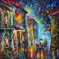 【印刷级】YHR190949192-李奥尼德阿夫列莫夫Leonid Afremov白俄罗斯现代印象派艺术家绘画作品集油画作品高清图片-43M-4245X3556