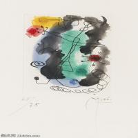 【打印级】YHR181417135-二十世纪绘画大师西班牙超现实主义画家米罗Joan Miro绘画作品高清图片抽象画作品集-Femme en colère.-21M-2122X3470