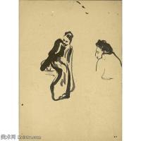 【欣赏级】SMR181514004-维亚尔爱德华Edouard Vuillard法国纳比派代表画家高清那比派绘画作品素描手稿底稿图片资料-11M-2000X2000