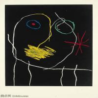 【打印级】YHR181417142-二十世纪绘画大师西班牙超现实主义画家米罗Joan Miro绘画作品高清图片抽象画作品集-LE PROPHéTE LA NUIT-21M-2317X3207
