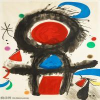 【欣赏级】YHR181417066-二十世纪绘画大师西班牙超现实主义画家米罗Joan Miro绘画作品高清图片抽象画作品集-Pic de la mirandole-18M-2094X3000