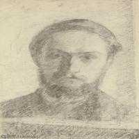 【欣赏级】SMR181514001-维亚尔爱德华Edouard Vuillard法国纳比派代表画家高清那比派绘画作品素描手稿底稿图片资料-7M-1290X2000