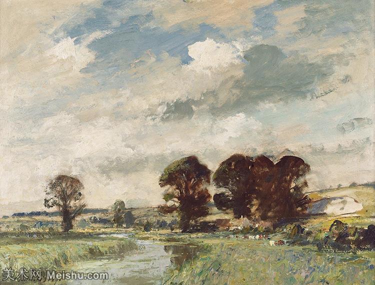 【欣赏级】YHR181343064-英国印象派画家爱德华西戈Edward Sago风景油画高清作品集-13M-2452X