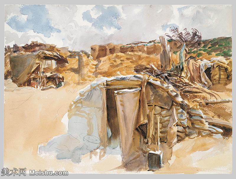 【打印级】SCR190845066-约翰萨金特John Singer Sargent美国肖像画家水彩画家绘画作品集萨金特