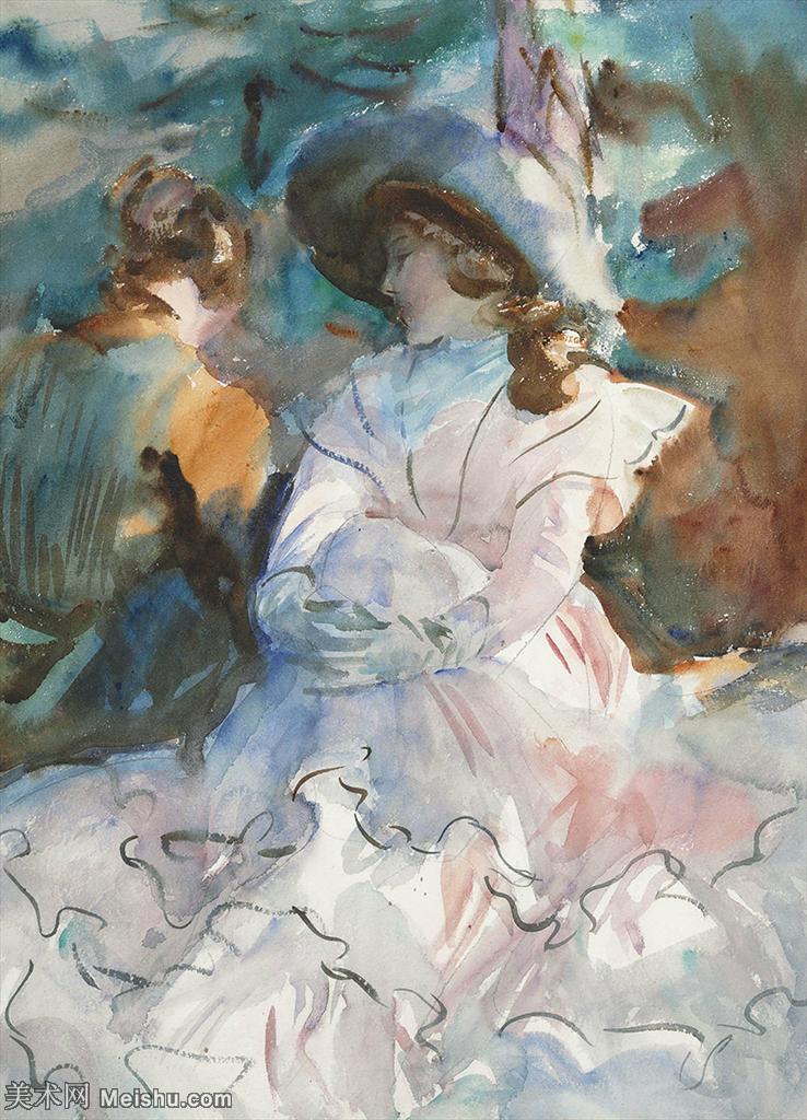 【打印级】SCR190845064-约翰萨金特John Singer Sargent美国肖像画家水彩画家绘画作品集萨金特
