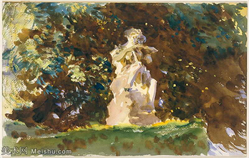 【打印级】SCR190845070-约翰萨金特John Singer Sargent美国肖像画家水彩画家绘画作品集萨金特
