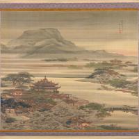 袁耀汉宫春晓图轴-清朝-山水-中国清朝山水画作品