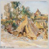 【打印级】SCR190845065-约翰萨金特John Singer Sargent美国肖像画家水彩画家绘画作品集萨金特水彩作品