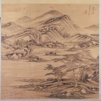 王鉴山水图轴-清朝-山水-中国清朝山水画作品