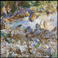 【打印级】SCR190845076-约翰萨金特John Singer Sargent美国肖像画家水彩画家绘画作品集萨金特水彩作品