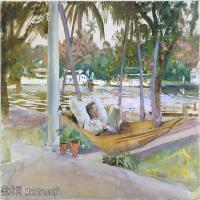 【打印级】SCR190845073-约翰萨金特John Singer Sargent美国肖像画家水彩画家绘画作品集萨金特水彩作品