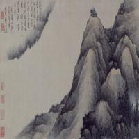 龚贤摄山��霞图卷-清朝-山水-中国清朝山水画作品