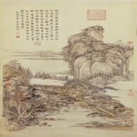 张宗苍山水图轴-清朝-山水-中国清朝山水画作品