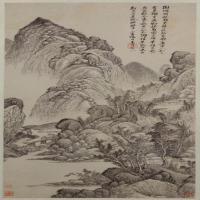 吴历拟古脱古图轴-清朝-山水-中国清朝山水画作品