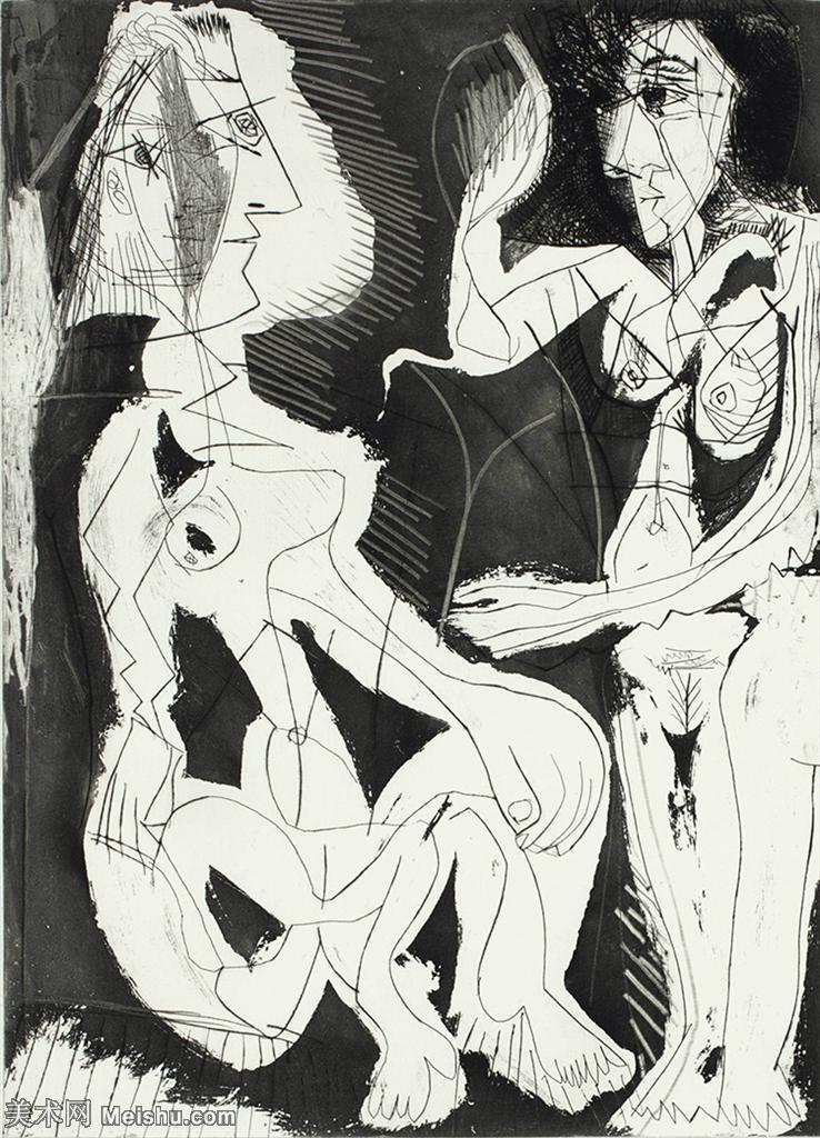 【打印级】SMR181128105-西班牙画家巴勃罗毕加索Pablo Picasso现代派素描毕加索手稿高清图片毕加索素