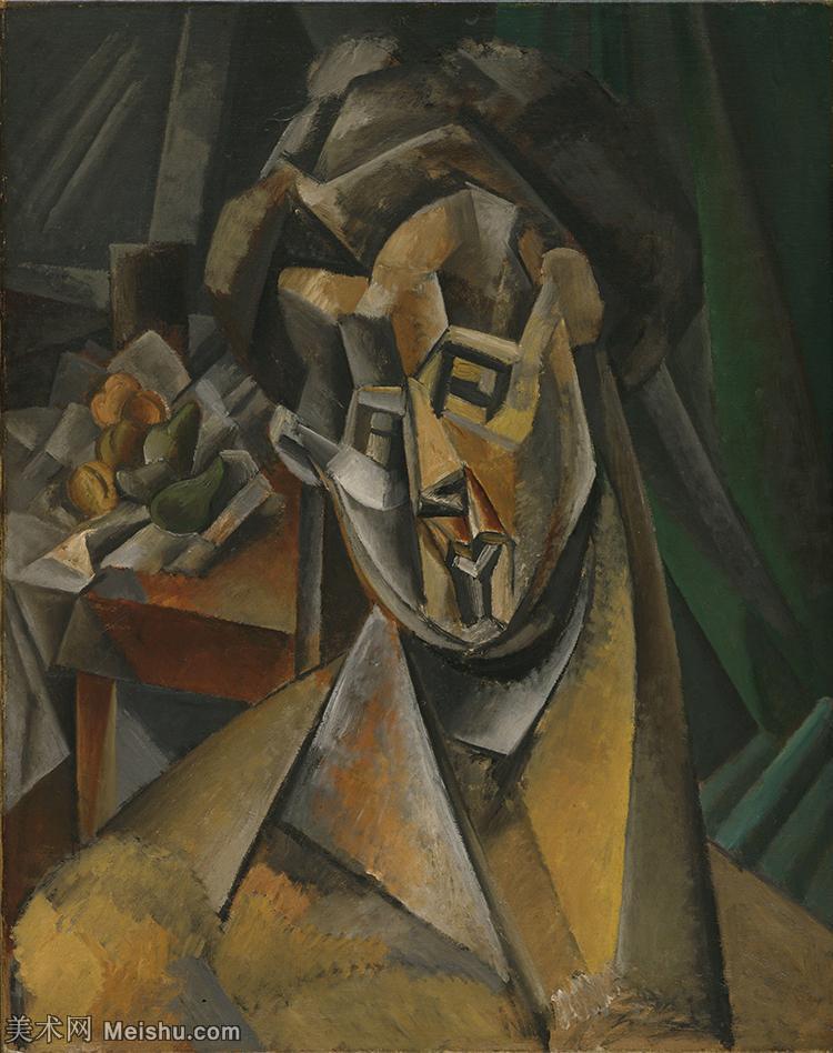 【印刷级】YHR181125168-西班牙画家巴勃罗毕加索PabloPicasso现代派绘画作品高清图片抽象油画高清图片