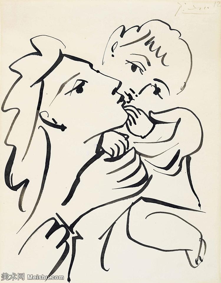 【打印级】YHR181125064-西班牙画家巴勃罗毕加索PabloPicasso现代派绘画作品高清图片抽象油画高清图片