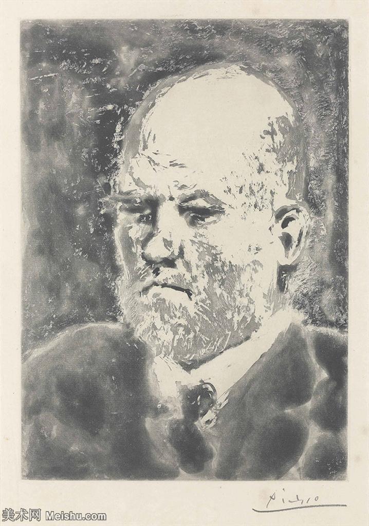 【欣赏级】SMR181128096-西班牙画家巴勃罗毕加索Pablo Picasso现代派素描毕加索手稿高清图片毕加索素