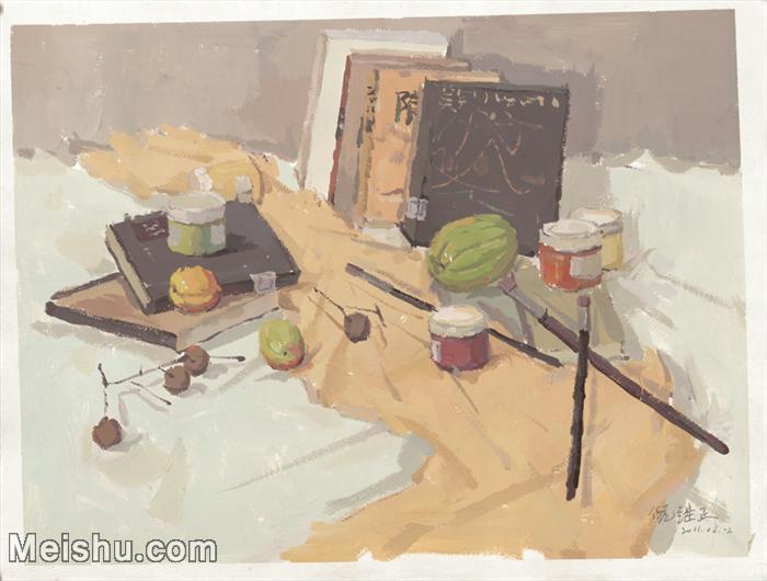 【超顶级】SF-10122383-水粉静物美院优秀试卷优秀考生绘画作品艺考高分题库高清图片-204M-8416X6372