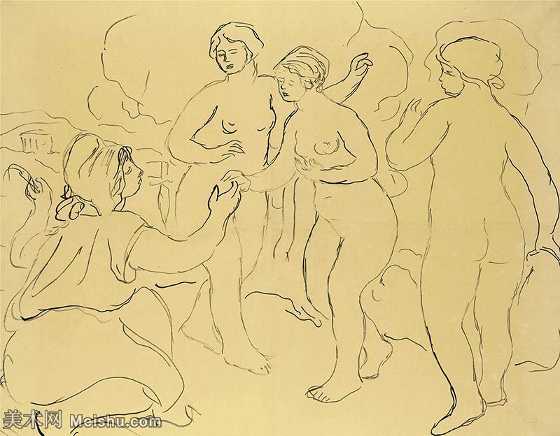 【打印级】SMR19154655-皮埃尔奥古斯特雷诺阿Pierre Auguste Renoir法国印象派重要画家雷诺阿