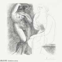 【打印级】SMR181128120-西班牙画家巴勃罗毕加索Pablo Picasso现代派素描毕加索手稿高清图片毕加索素描作品-21M-2389X3201