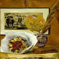 【超顶级】YHR191548463-皮埃尔奥古斯特雷诺阿Pierre Auguste Renoir法国印象派重要画家雷诺阿印象派油画作品集StillLifewithBouquet-131M-6085X
