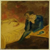 【印刷级】YHR181125182-西班牙画家巴勃罗毕加索PabloPicasso现代派绘画作品高清图片抽象油画高清图片印象派油画-78M-4500X6131