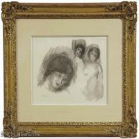 【打印级】SMR19154649-皮埃尔奥古斯特雷诺阿Pierre Auguste Renoir法国印象派重要画家雷诺阿印象派素描作品集LA PIERRE AUX TROIS CROQUIS-21M-
